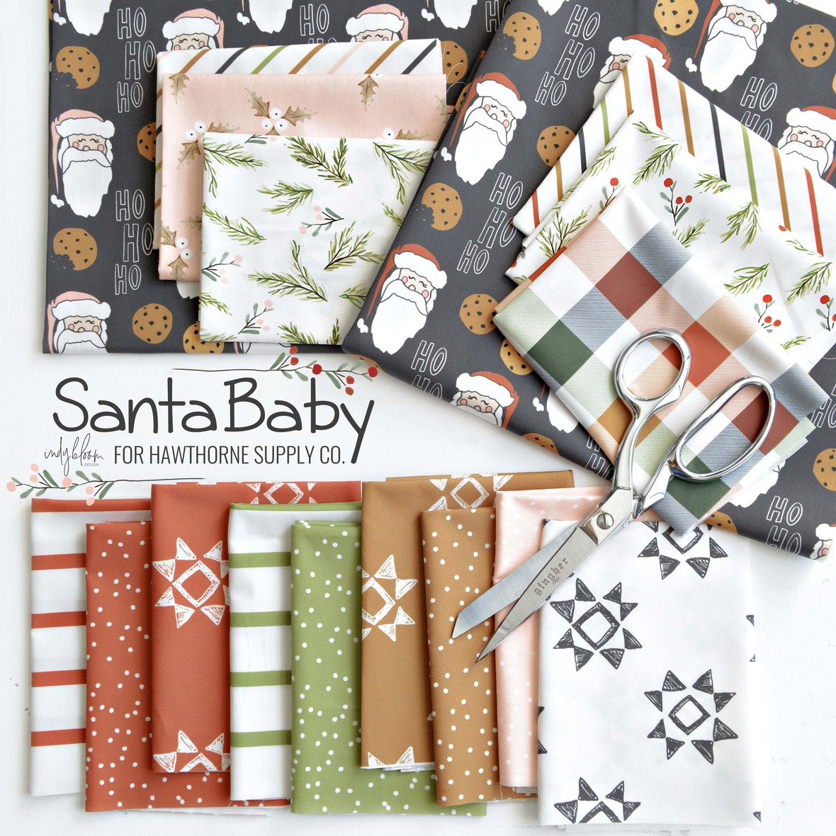 Santa Baby Fabric Poster Indy Bloom at Hawthorne Supply Co