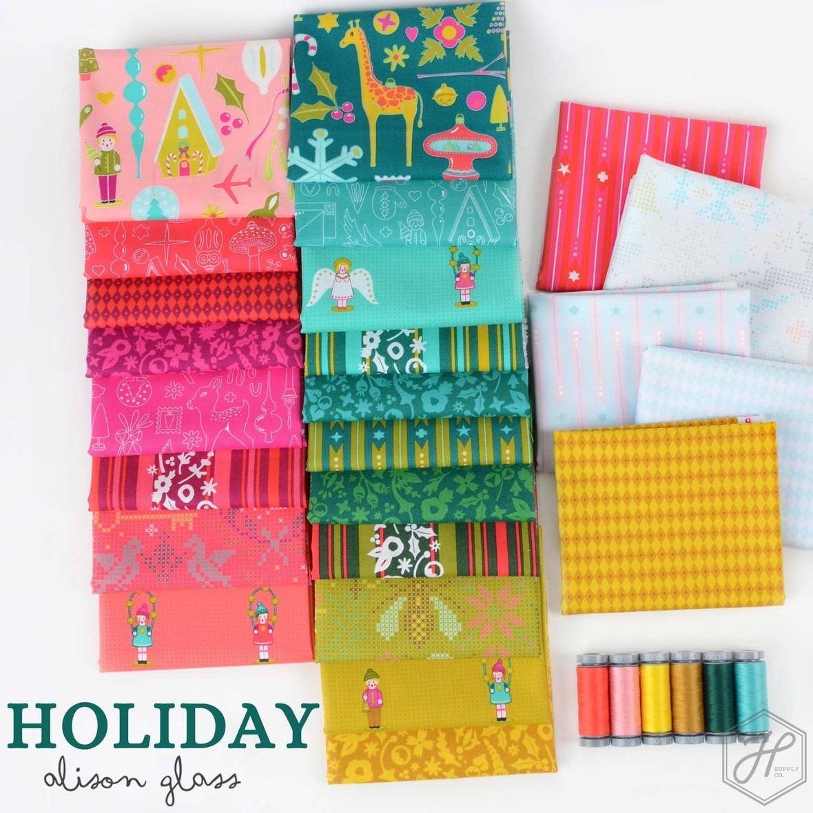 Holiday Fabric Poster Alison Glass for Andover at Hawthorne Supply Co