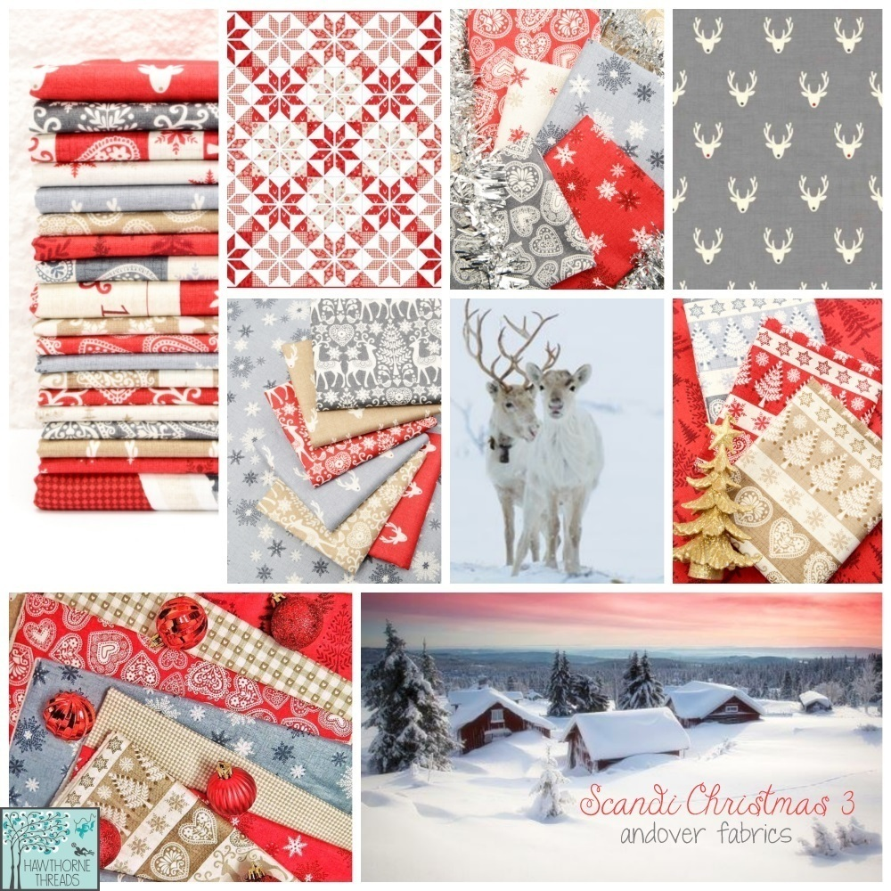 Scandi Christmas 3 Fabric Poster