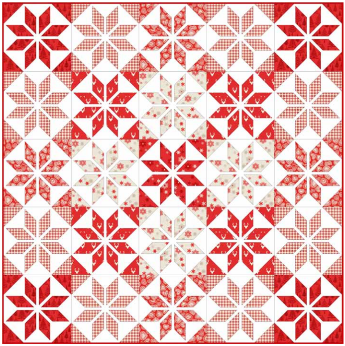 Scandi Christmas 3 Quilt  Makower Website