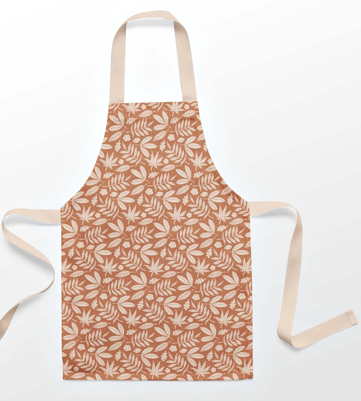 Apron Leaves in Terracotta