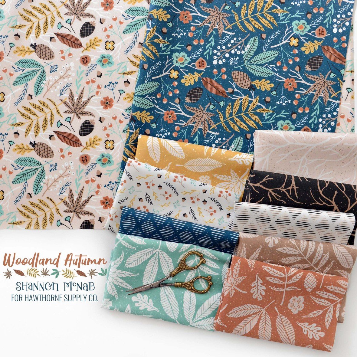 Woodland Autumn Fabric Shannon McNab at Hawthorne Supply Co.
