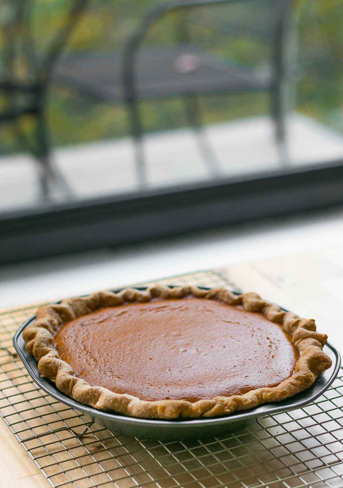 Pumpkin Pie with marshmallow topping Thanksgiving recipe