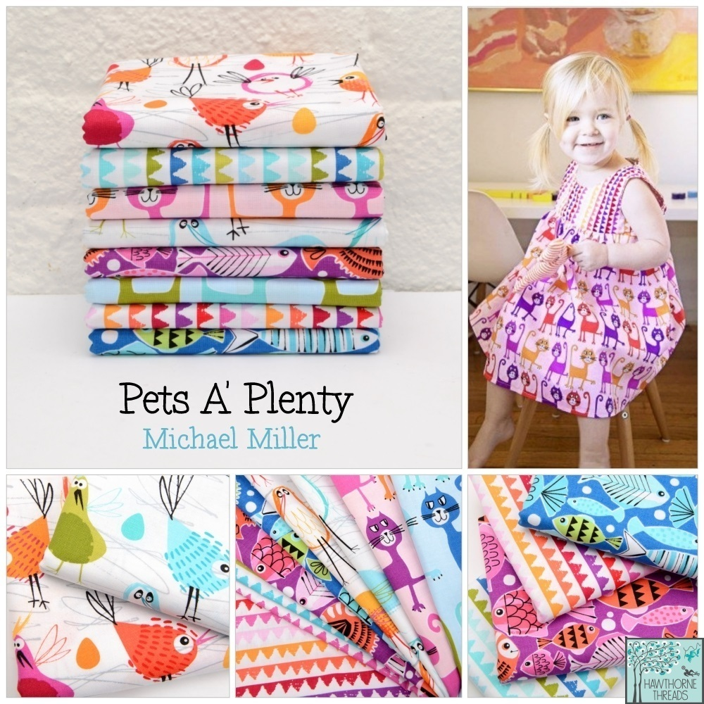 Pets a Plenty fabric poster