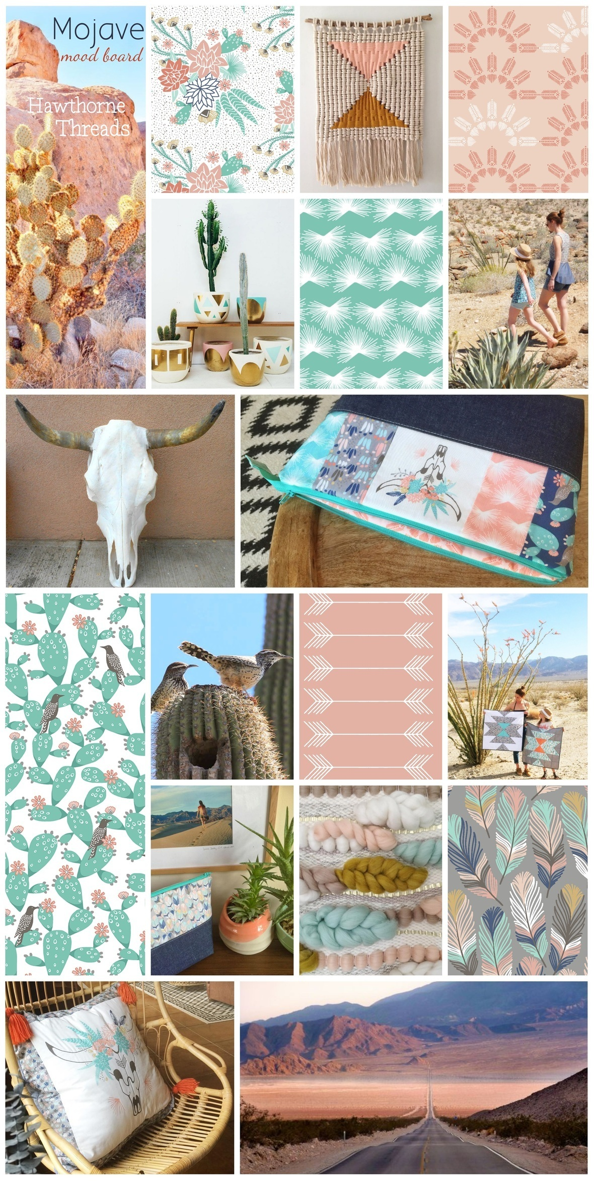 Mojave Fabric Mood Board from Hawthorne Threads