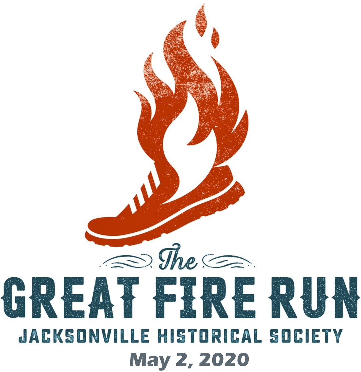 Fire Run logo with date