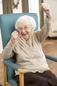 aged-woman-celebrate