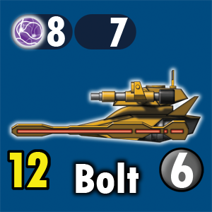 Bolt front blue