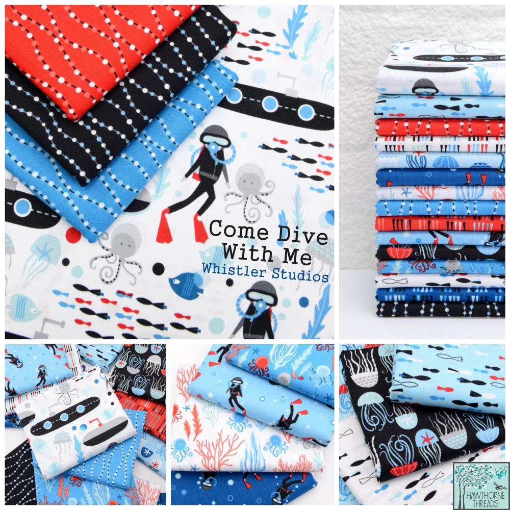 Come Dive With Me Fabric Poster