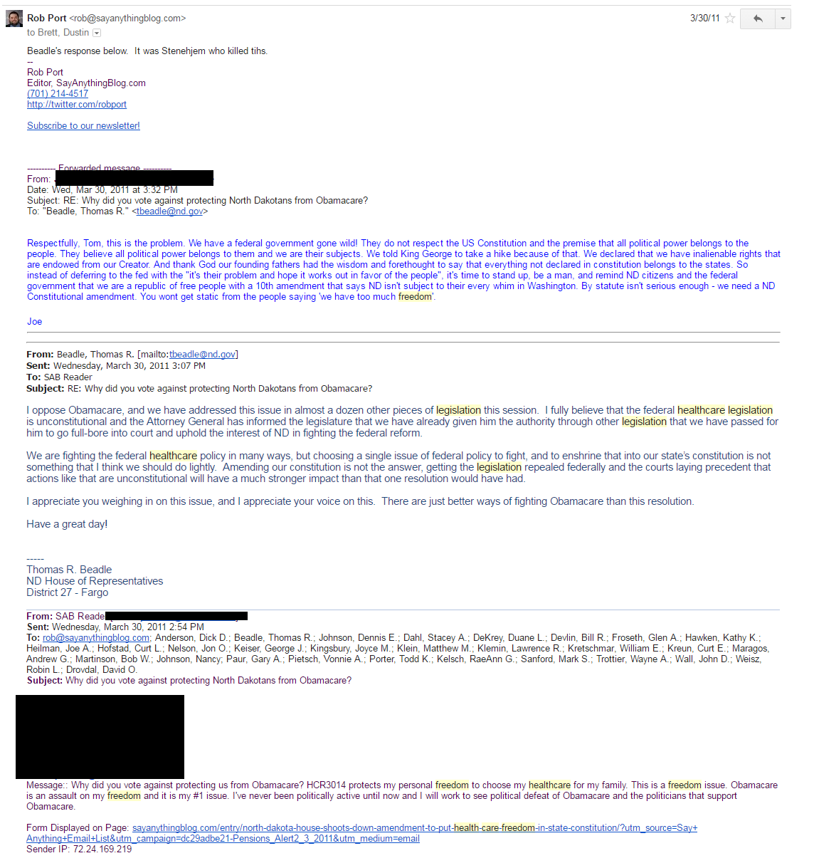 2011 HCF Email 1