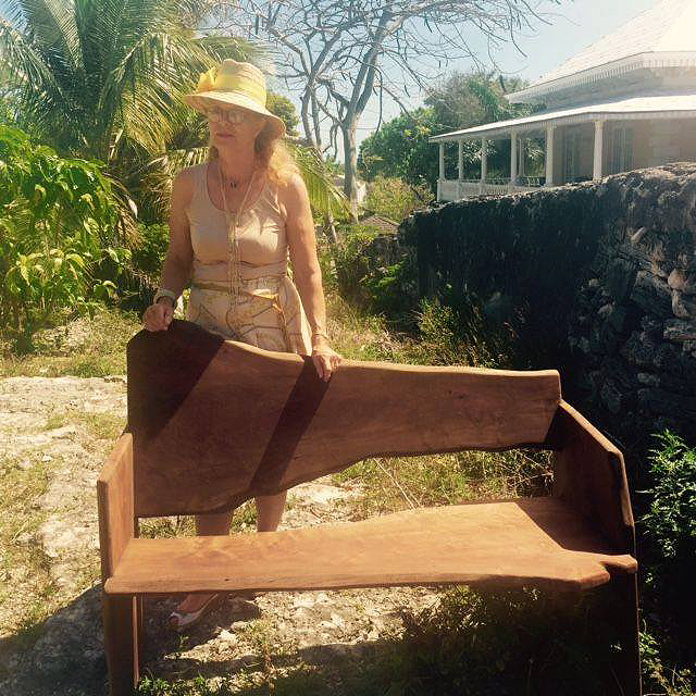 Katrina-Vanderlip-with-a-donated-bench