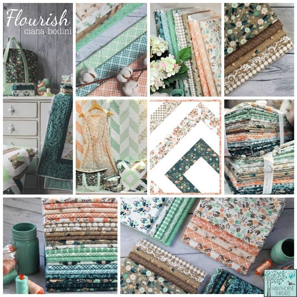 Flourish Fabric Poster