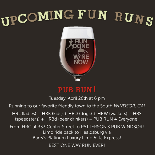 upcoming pub run