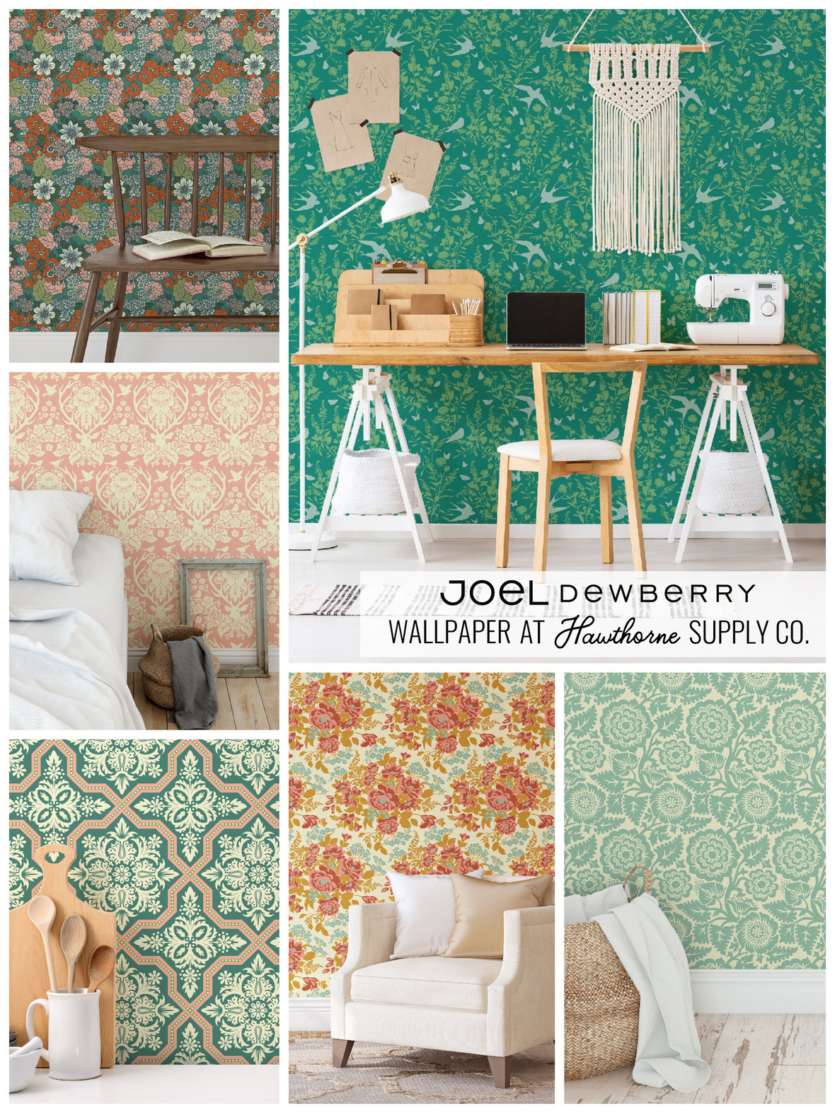 JOEL DEWBERRY WALLPAPER AT HAWTHORNE SUPPLY CO