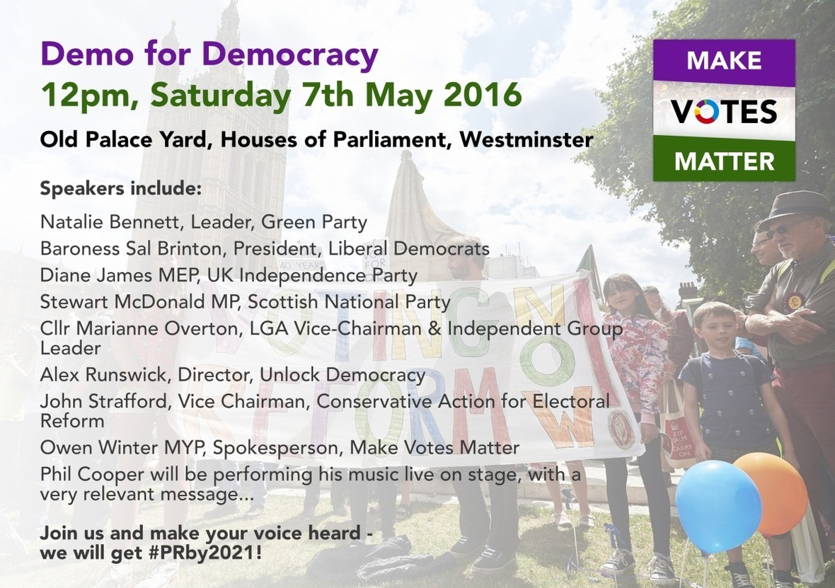 Make Votes Matter Day 2016 (Demo For Democracy) Advert