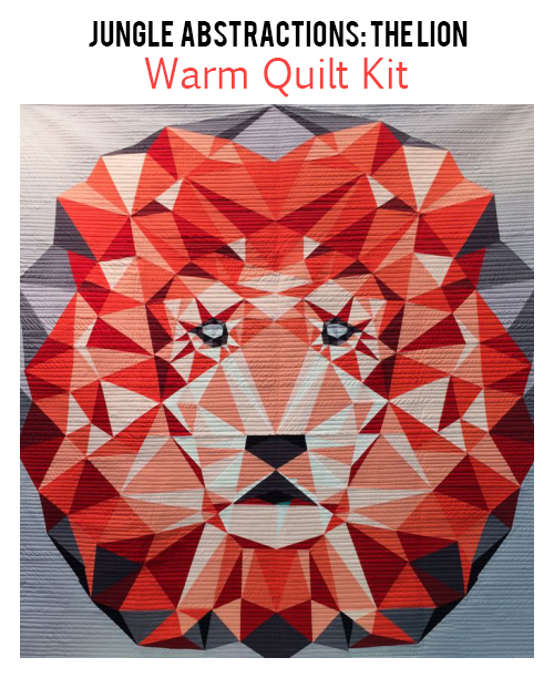 violet craft jungle abstractions the lion  warm quilt kit sewing pattern.jpg