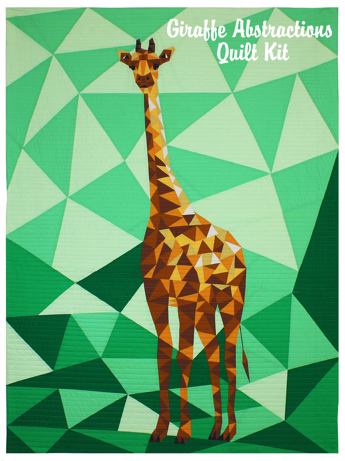 violet craft giraffe abstractions quilt kit sewing pattern
