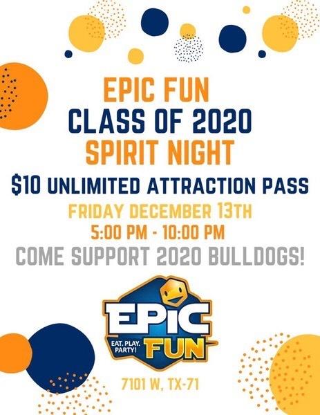 Spirit Night at Epic Fun