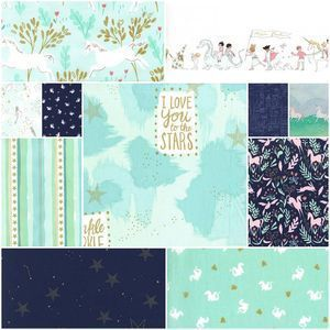 3966 magic fat quarter bundle in aqua