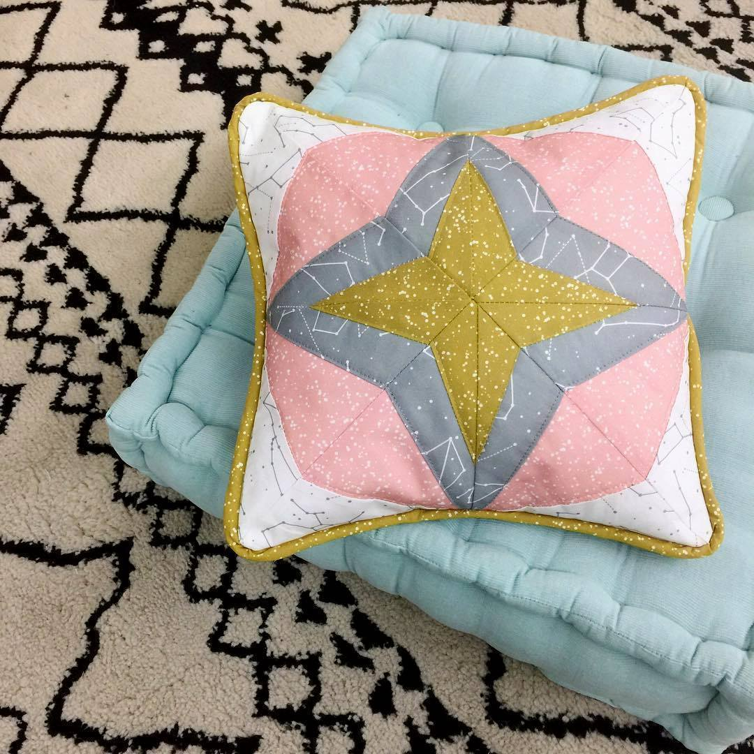 Star Paper Pieced Celestial Block Hawthorne
