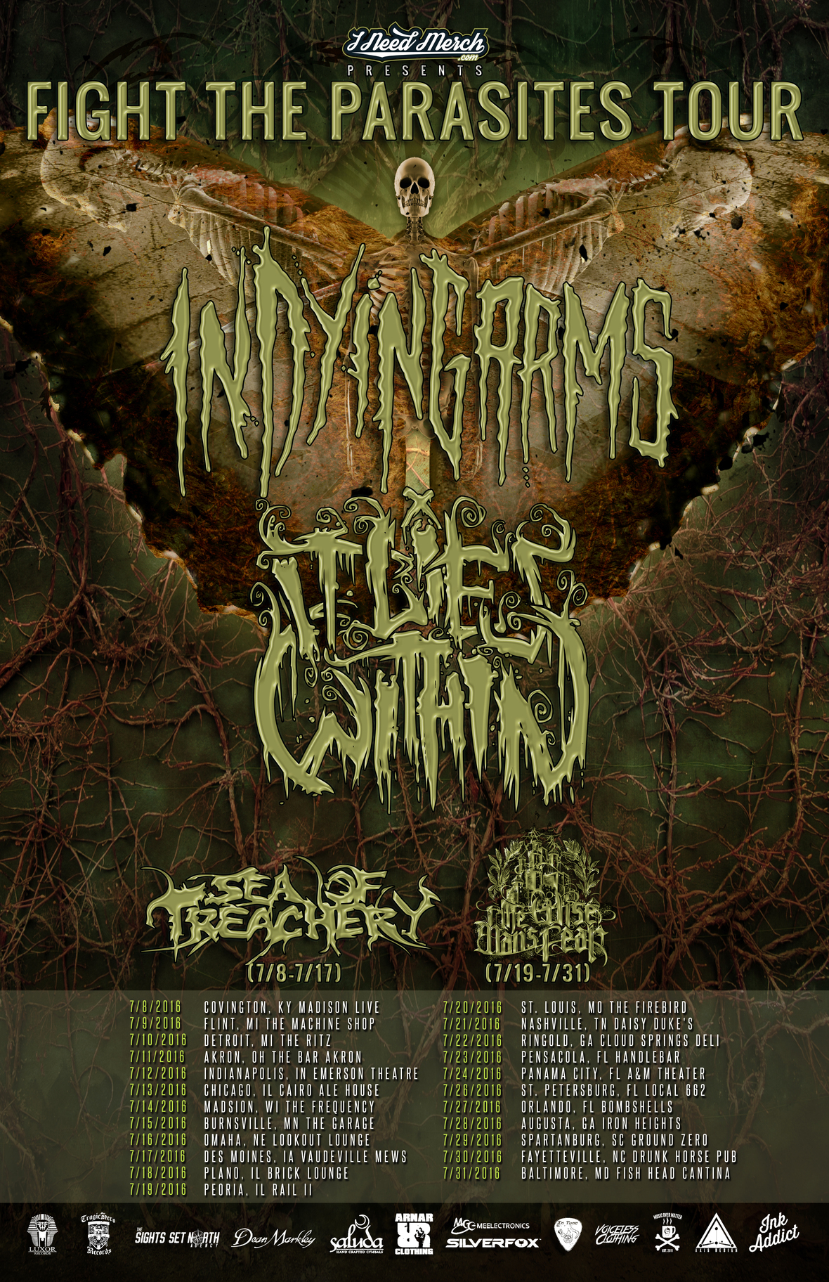 Fight The Parasites Tour dates 2