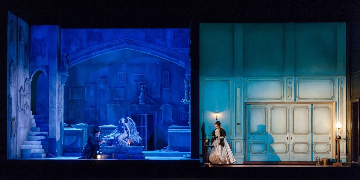 Royal Opera House's new production of Donizetti's Lucia di Lammermoor, photo credit Stephen Cummiskey