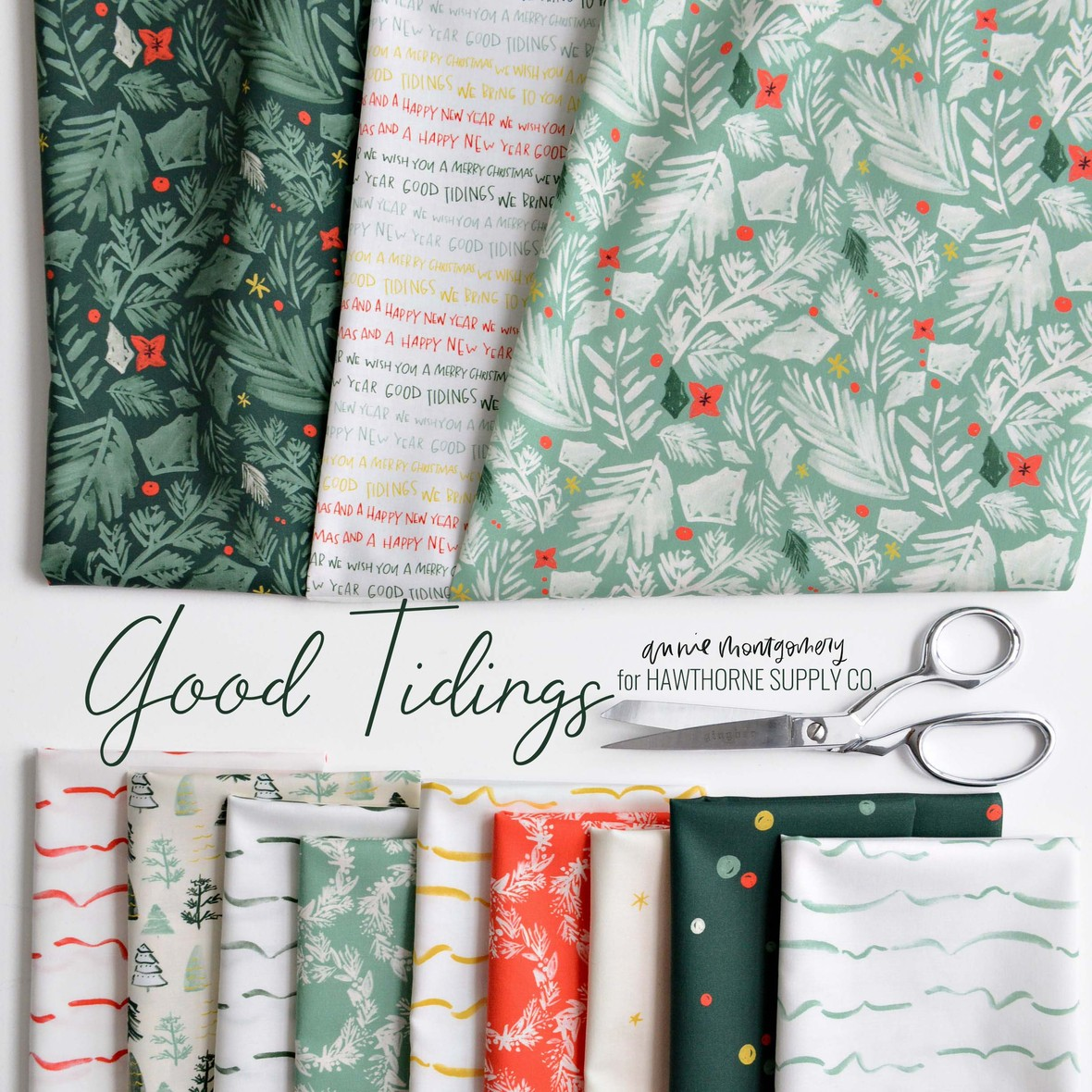 Good Tidings Fabric Poster Annie Montgomery Design at Hawthorne Supply Co