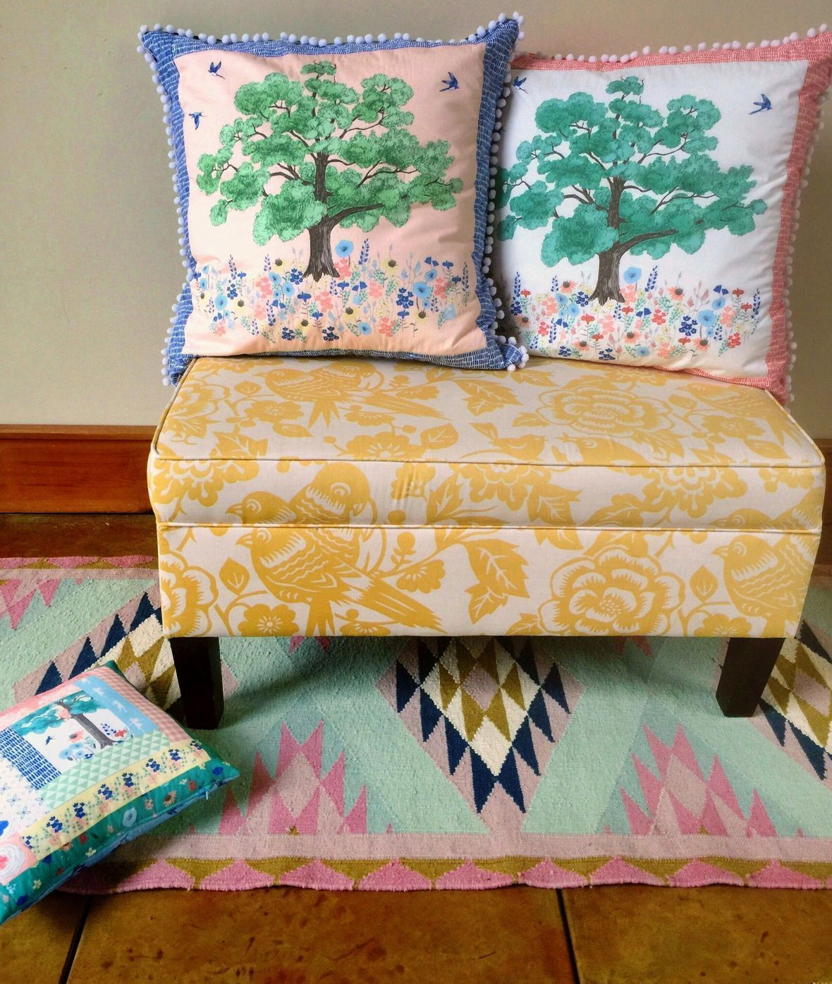 Meadowlark Patchwork Pillows