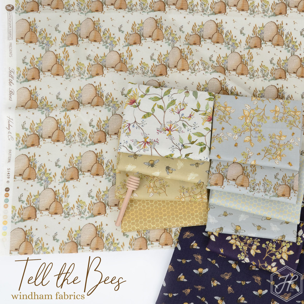 Tell-the-Bees-Fabric-Poster-WIndham-fabrics-at-Hawthorne-Supply-Co
