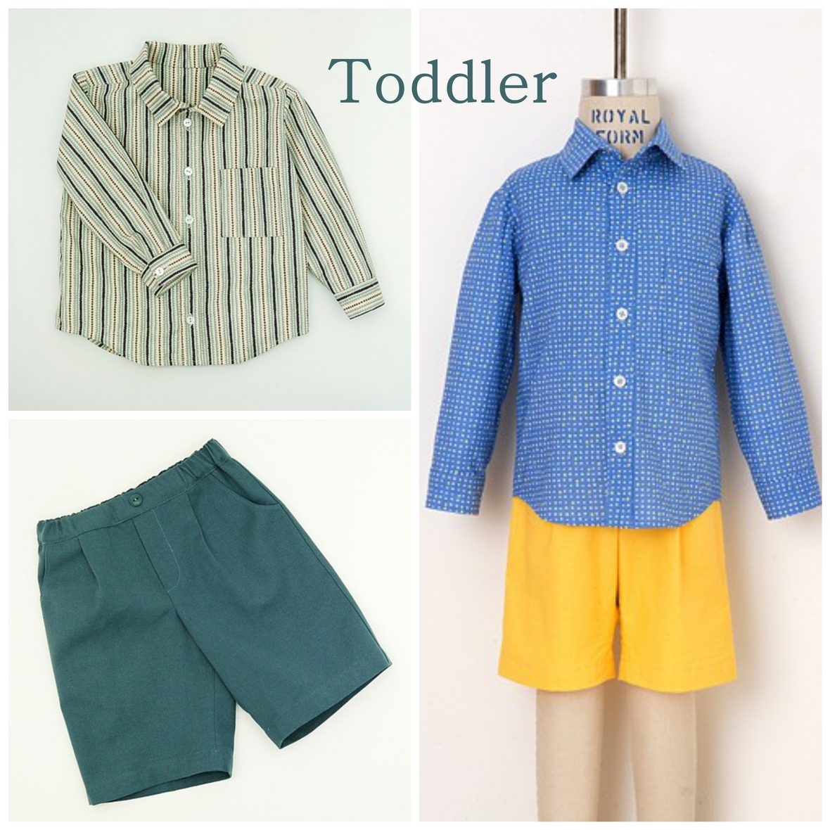 oliver and s  toddler sketchbook shirt and shorts sewing pattern
