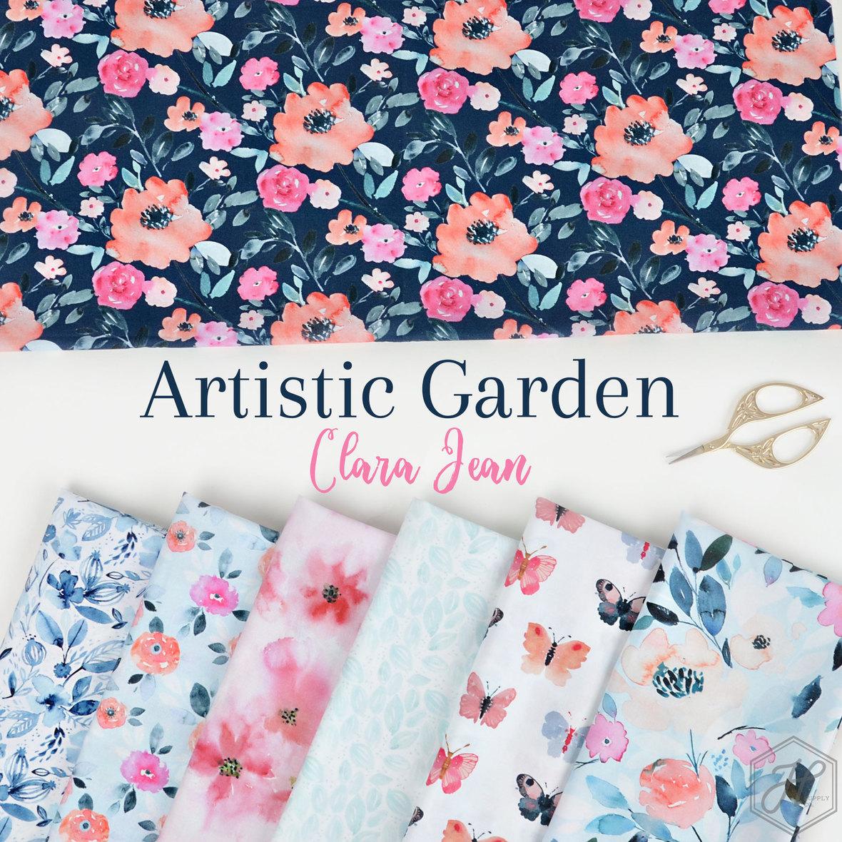 Artistic-Garden-Fabric-Poster-Clara-Jean-at-Hawthorne-Supply-Co