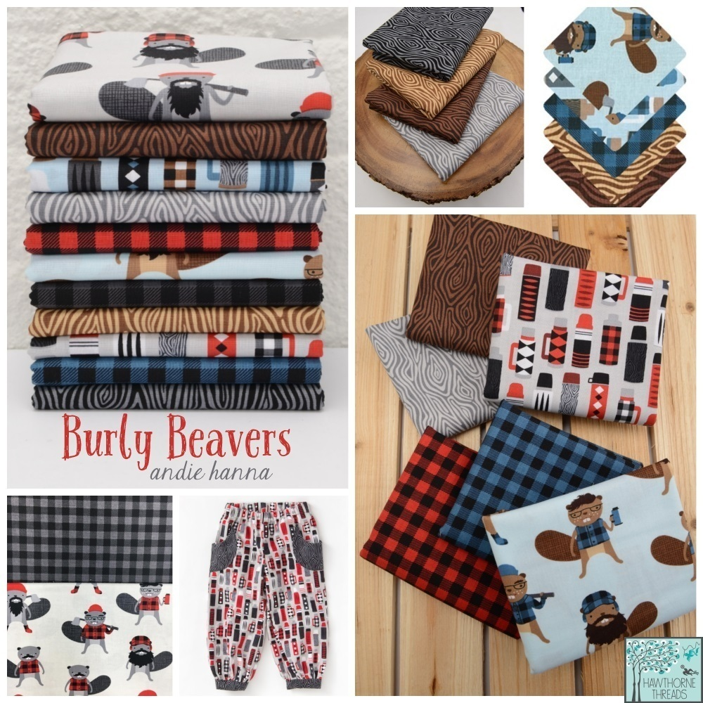 Burly Beavers Fabric Posster