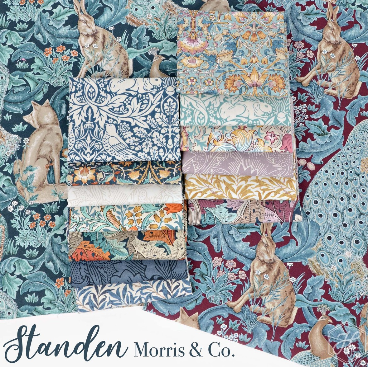 Standen Fabric Morris and Co fabric at Hawthorne Supply Co