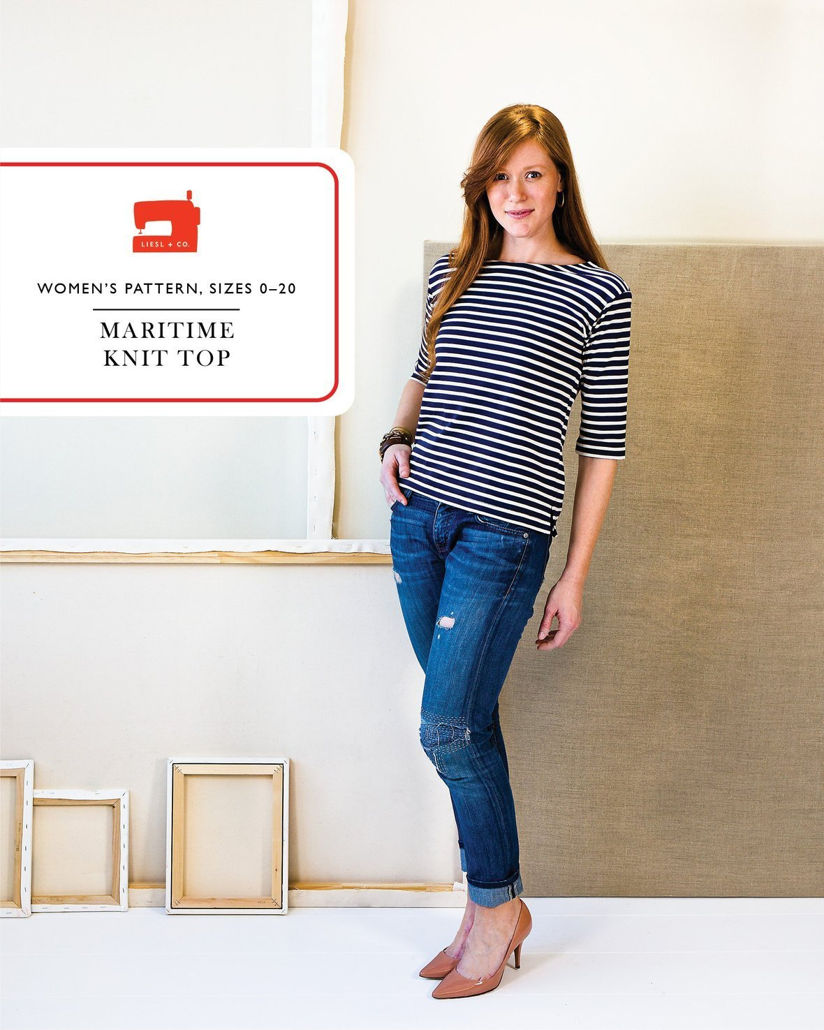 liesl and co  maritime knit top sewing pattern