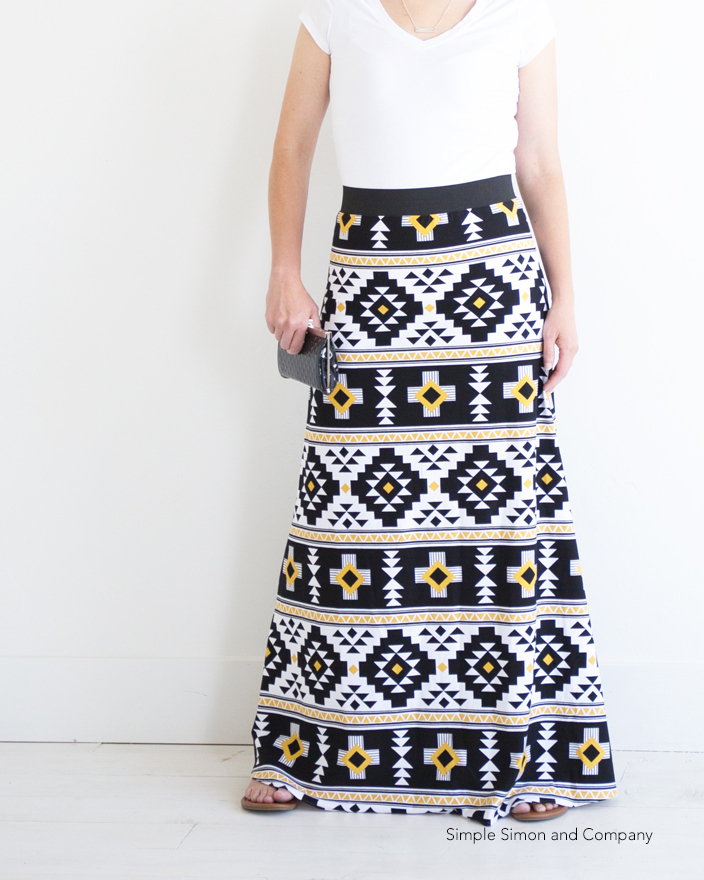simple simon and company  simple maxi skirt sewing pattern