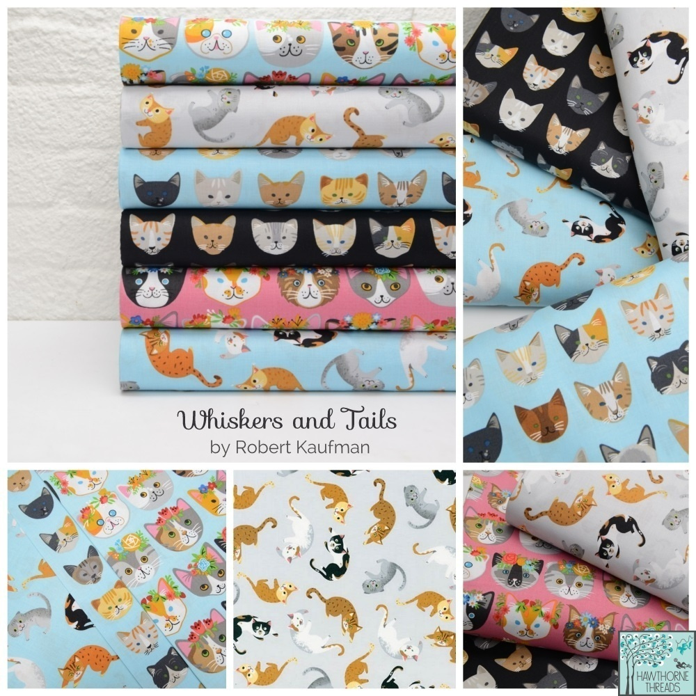 Whiskers and Tails Fabric Poster