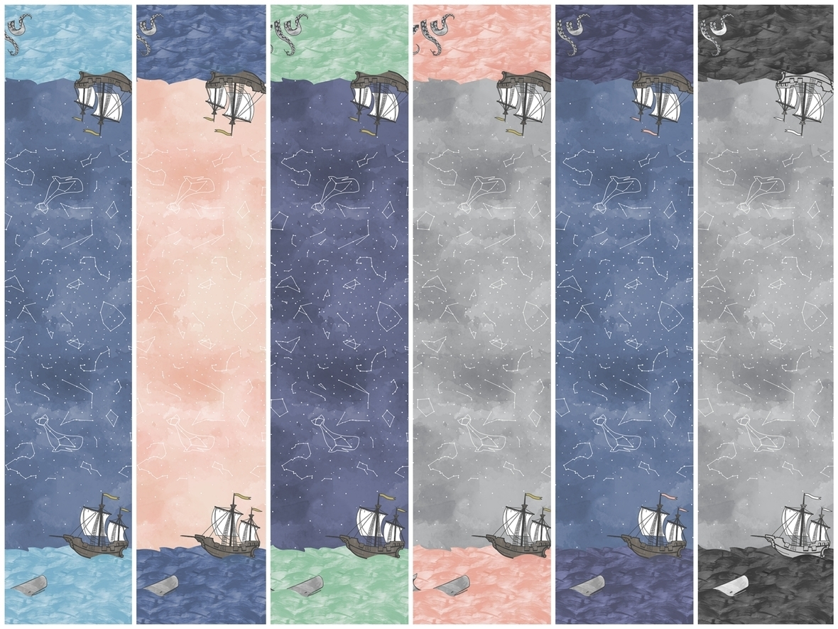 Sailors Delight Border Mariner Fabric large