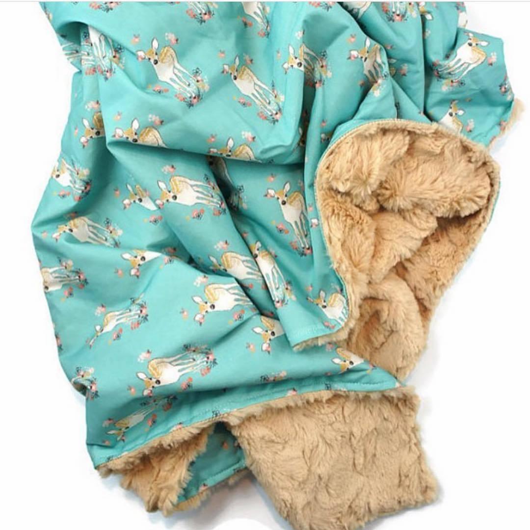 Fawn Fabric Blanket