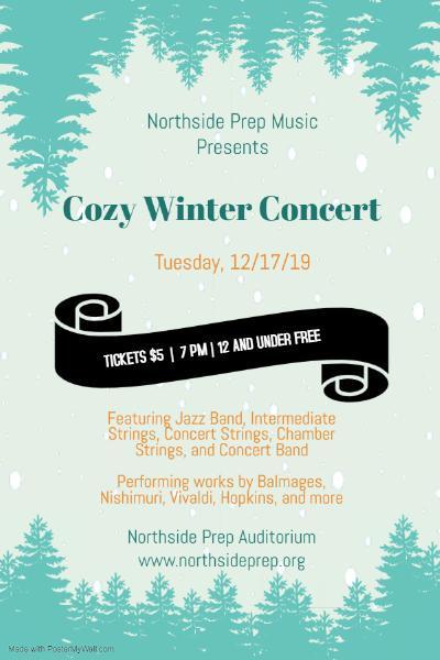 cozy winter concert - 2019 12 17 - concert flier