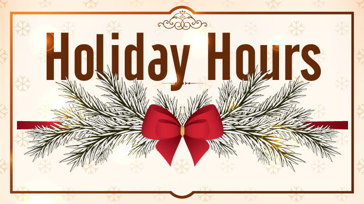 sill Holiday Hours