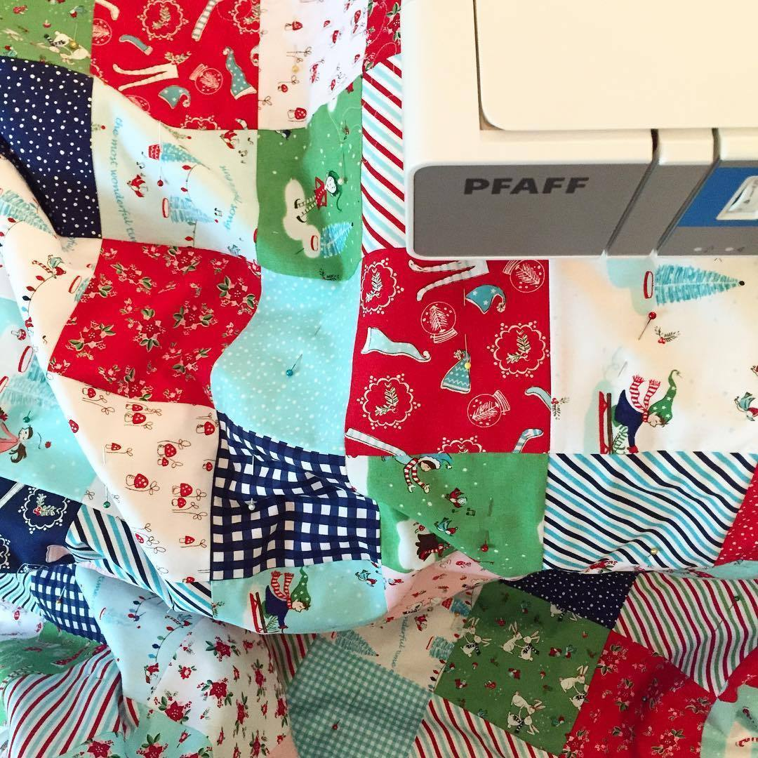 Pixie Noel Fabric Quilt