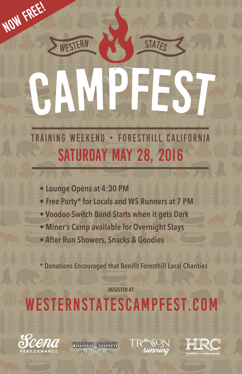 campfest party poster
