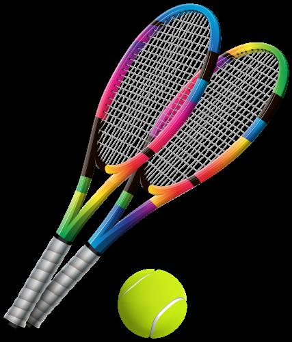 Tennis Rackets and Ball Transparent PNG Clip Art-1359