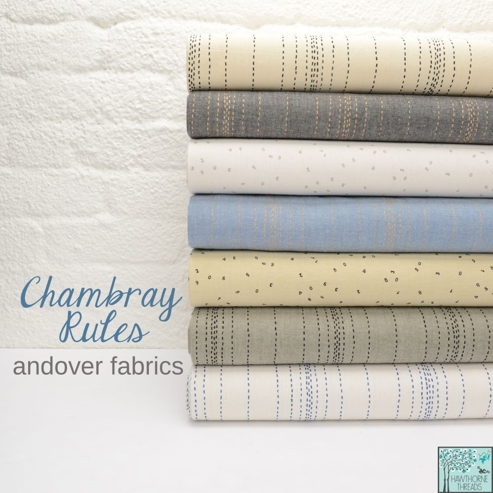 Chambray Rules Fabric Poster