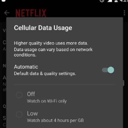 Cell data controls