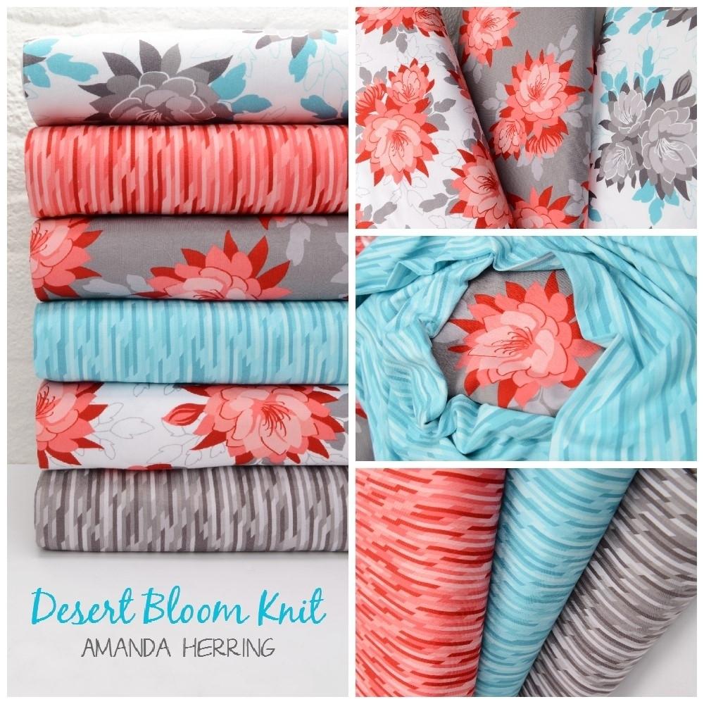 Desert Bloom Knit Fabric Poster