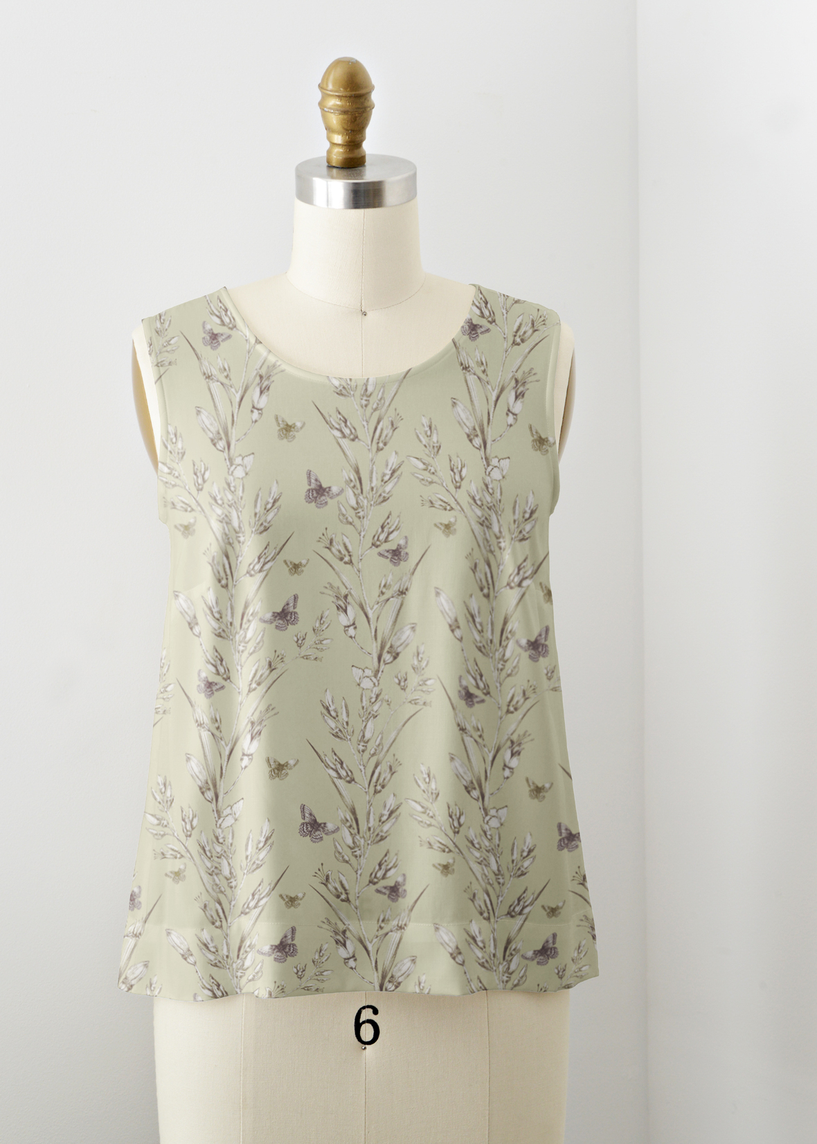 Willow Tank Leaves of Aroha in Lime Sorbet