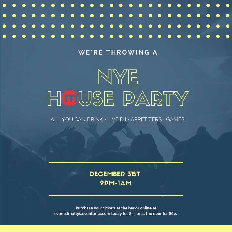 NYE 2019 Party Social Graphic