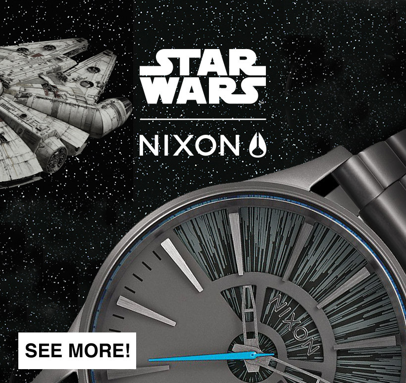 New Nixon Millennium Falcon Star Wars Watch Collection - Time For Hyperspace