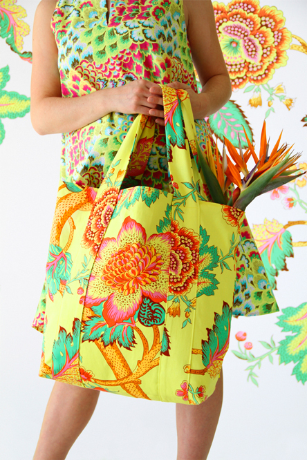 amy butler spice market tote sewing pattern
